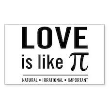 Love is like pi Decal