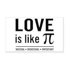 Love is like pi Rectangle Car Magnet