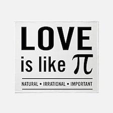Love is like pi Throw Blanket