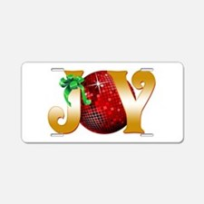 Christmas Joy Aluminum License Plate