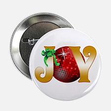 """Christmas Joy 2.25"""" Button"""