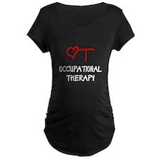 OT-HEART-onblack Maternity T-Shirt