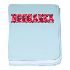 Nebraska Jersey Red baby blanket