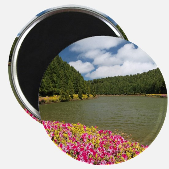 Lake in Azores Magnets