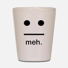 Meh face Shot Glass