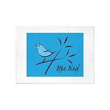 Blue Bird 5'x7'Area Rug
