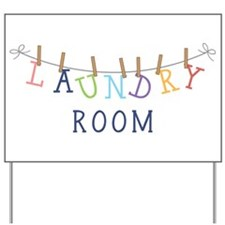 Laundry Hanging Yard Sign