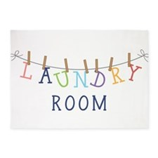 Laundry Hanging 5'x7'Area Rug