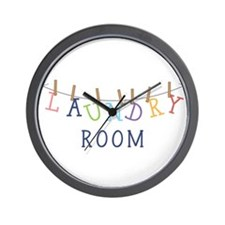 Laundry Hanging Wall Clock