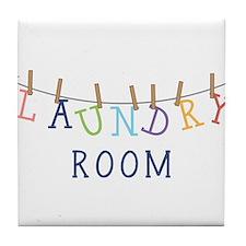 Laundry Hanging Tile Coaster