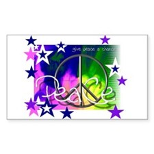 Give Peace a Chance Rectangle Decal