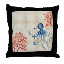 Funny Watercolor Throw Pillow
