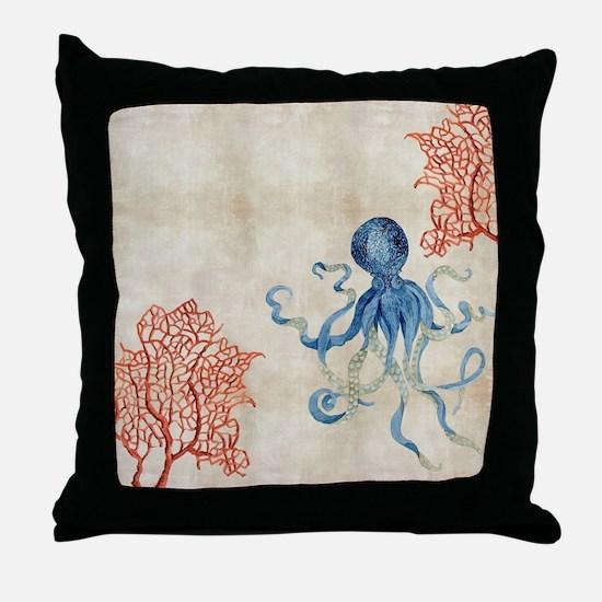 Cute Coral reef Throw Pillow