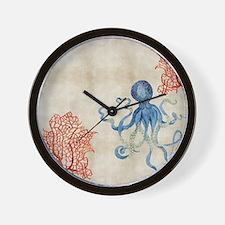 Cute Coral reef Wall Clock