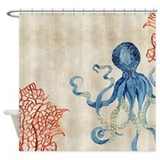 Cute Coastal Shower Curtain