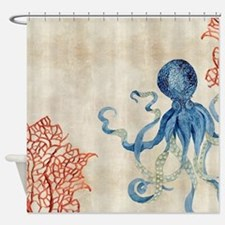 Cool Coastal Shower Curtain