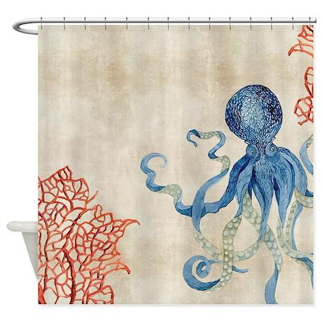 Cool Coastal Shower Curtain