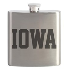 Iowa Jersey Black Flask
