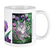 Gray Tabby Cat Mugs