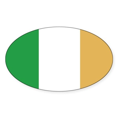 Ireland Flag Oval