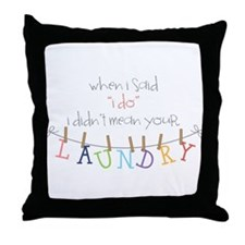 Laundry Hanging Throw Pillow