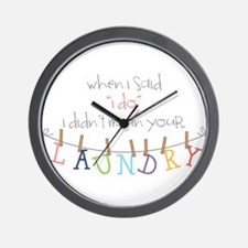 Laundry Hanging Wall Clock