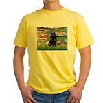 Lilies (2) & Schipperke Yellow T-Shirt
