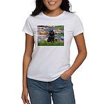 Lilies (2) & Schipperke Women's T-Shirt