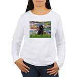 Lilies (2) & Schipperke Women's Long Sleeve T-Shir