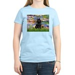 Lilies (2) & Schipperke Women's Light T-Shirt