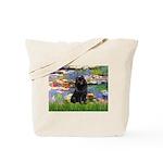 Lilies (2) & Schipperke Tote Bag