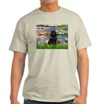 Lilies (2) & Schipperke Light T-Shirt