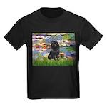 Lilies (2) & Schipperke Kids Dark T-Shirt