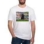 Lilies (2) & Schipperke Fitted T-Shirt