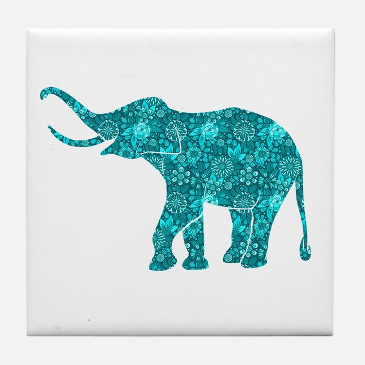 Cute Elephant Tile Coaster