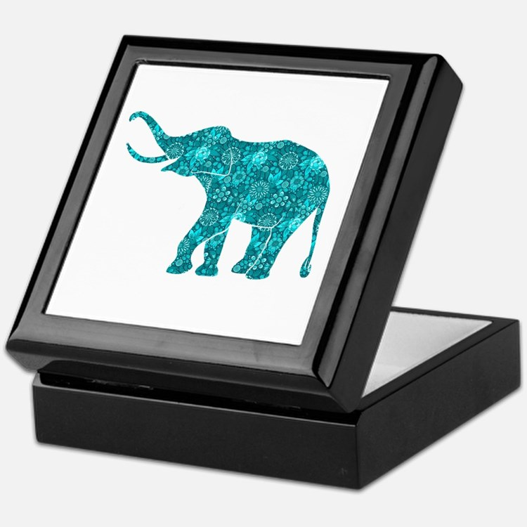 Cute Elephants Keepsake Box