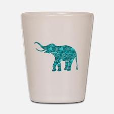 Elephants Shot Glass
