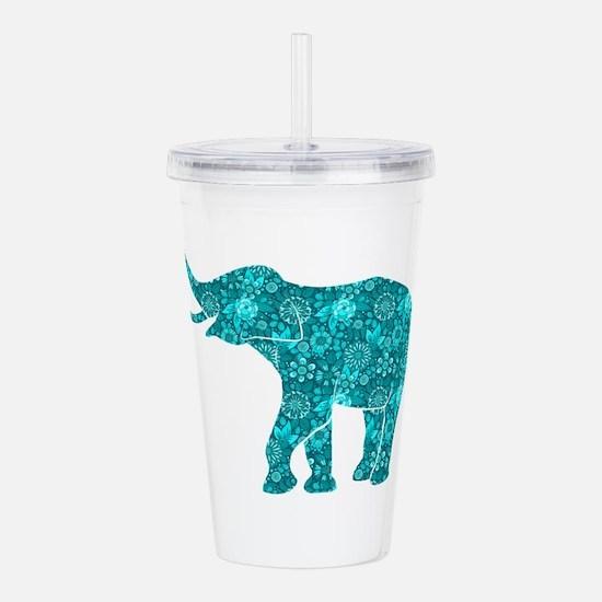 Cute Elephant Acrylic Double-wall Tumbler