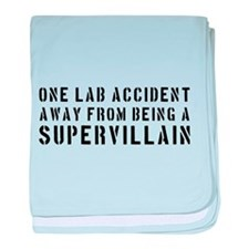 One lab accident supervillain baby blanket