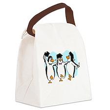 Graduation Dancing Penguins Canvas Lunch Bag
