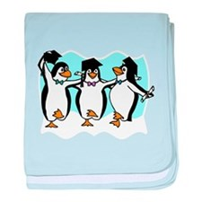 Unique Penguin cartoon baby blanket