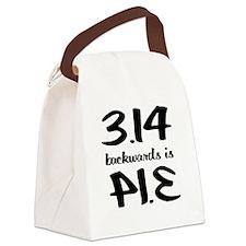 Pie backwards Canvas Lunch Bag
