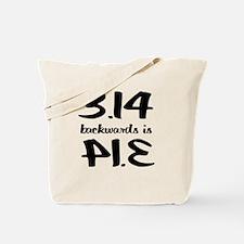 Pie backwards Tote Bag