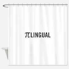 Pilingual Shower Curtain