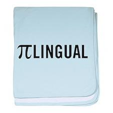 Pilingual baby blanket