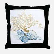 Indigo Ocean Coral Nautilus Triton Sc Throw Pillow