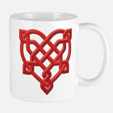 Red Celt Heart Mug