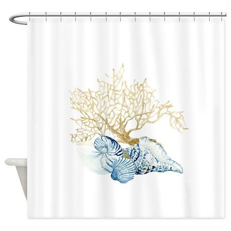 Cute Coastal Shower Curtain