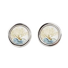 Unique Cora Round Cufflinks