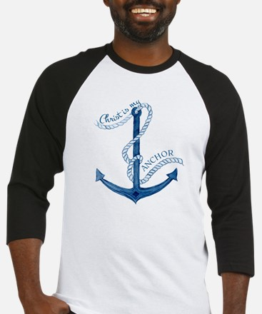 Jesus Christ is my Anchor Nautical Baseball Jersey